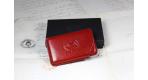 Porte cartes de visite rouge