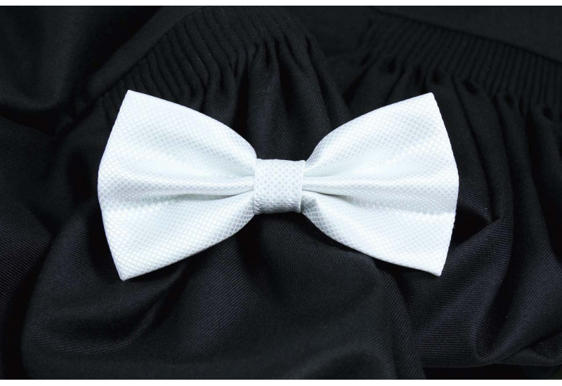 White bowtie right edge