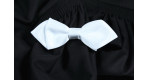 White bowtie pointed edge
