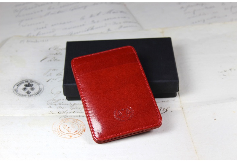 Red credit cards holder « magic »