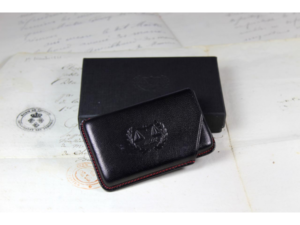 Black business cards holder