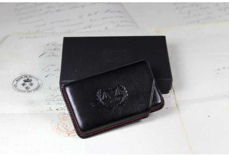 Porte cartes de visite noir