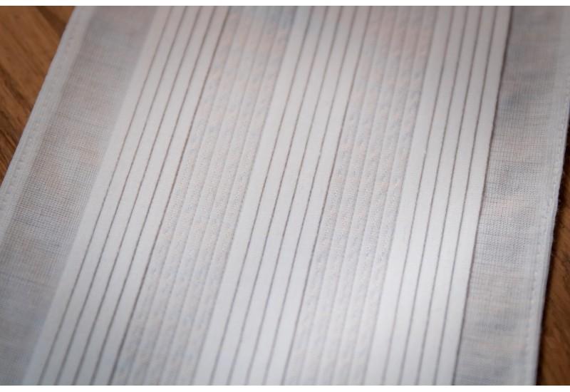 Dual sewn pleats  tab